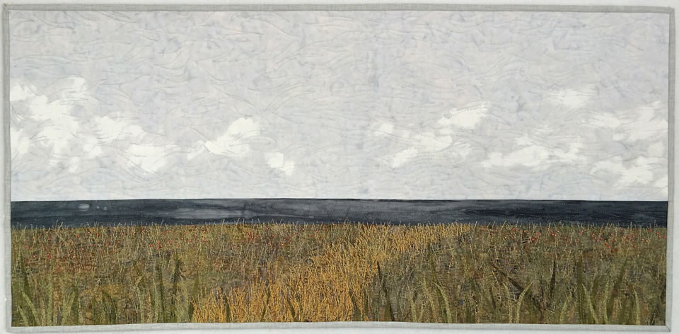 "Lakeside Meadow, 35""x 17"""